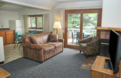 The interior of a lakeview cabin at Cragun's Resort, a top Nisswa resort