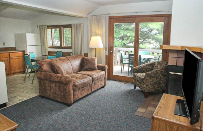 An interior view of the cabins in Brainerd MN at Cragun's Resort