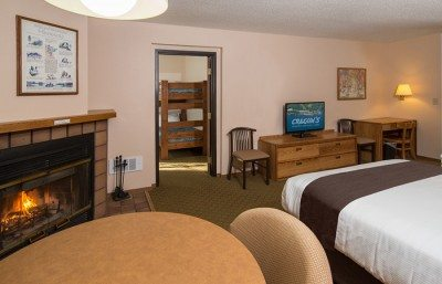 A family suite room at Cragun's Resort, a leading Minnesota resort