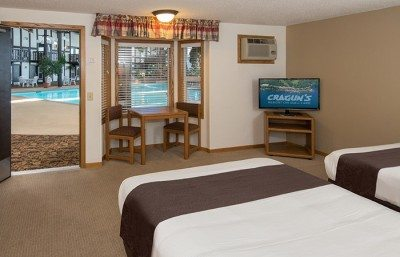A poolside room at Cragun's Resort, a leading Minnesota resort
