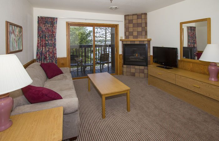 A hotel room at Cragun's Resort - one of the hotels in Brainerd MN