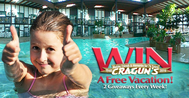 Win a free vacation to Cragun's Resort