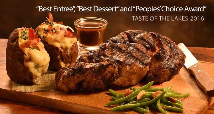 "Irma's Kitchen wins ""Best Entree"", ""Best Dessert"" and ""People's Choice Award"" at the Taste of the Lakes 2016"