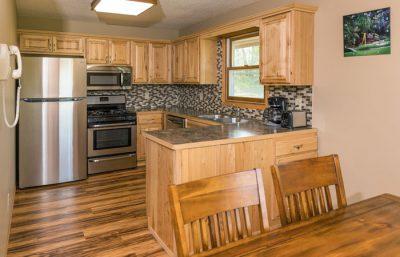 Legacy Lodge 801 kitchen at Cragun's Resort in Brainerd, Minnesota