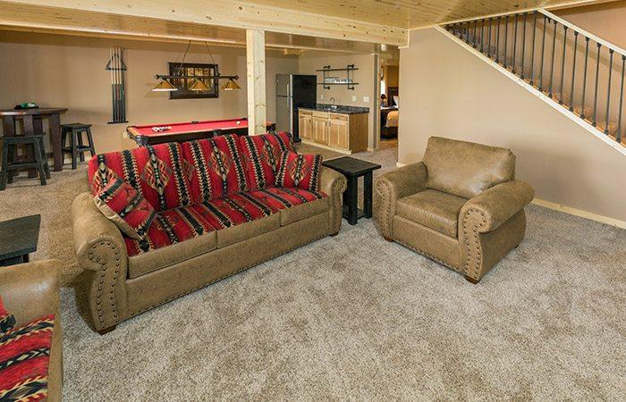 Bayview Villas lower recreation room at Cragun's Resort in Brainerd Minnesota