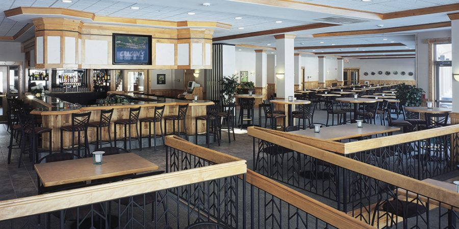 Seating area of the Legacy Grille and Bar in Brainerd MN located at Cragun's Resort on Gull Lake