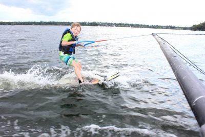 Learn to ski boom on our private Axis T23 boat